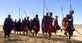 Masai people dancing