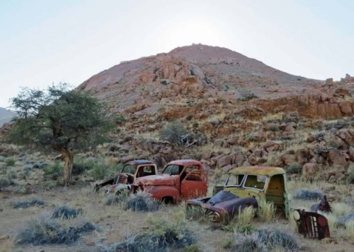 Old Cars in Namib Desert