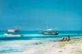 Zanzibar beach and sea