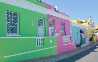 Green, pink and blue house in Bo-Kaap