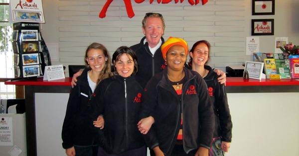 ashanti reception and staff