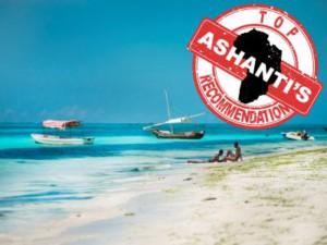 beach with Ashanti logo