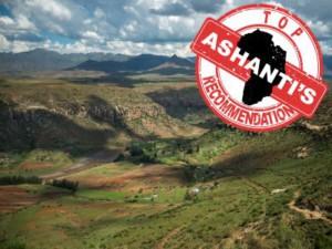 Drakensberg met Ashanti logo