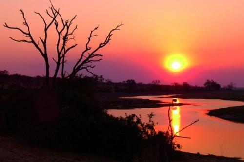 Chobe river sunser