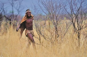 San man in Botswana