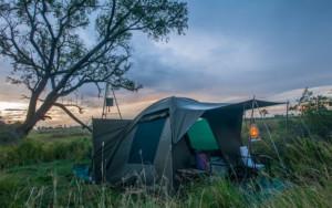 Dome tent at Okavango delta