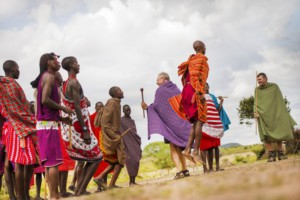 Maasai people jumping