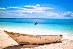 boat at Zanzibar beach