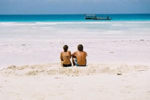 people at Zanzibar beach