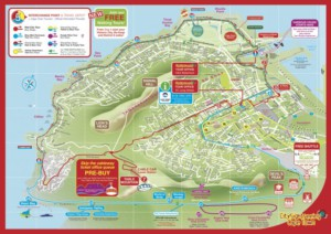 Cape Town city sightseeing bus routemap