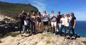 Group of people at Cape Point