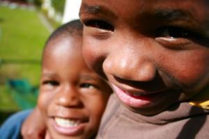 2 boys smiling
