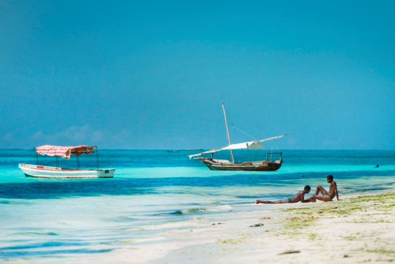 Zanzibar beach and sea