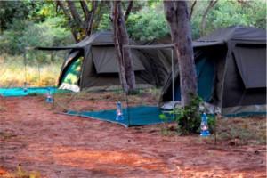 tents outside