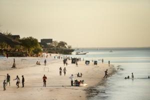 zanzibar people on beach