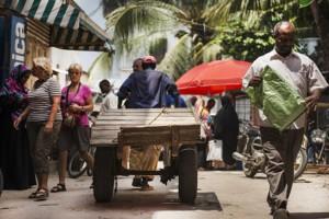 rickshaw zanzibar market