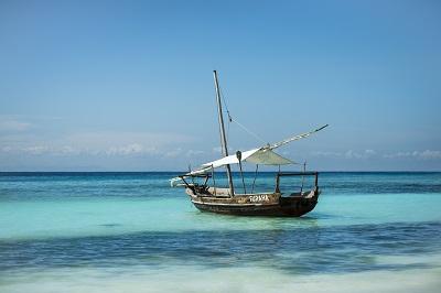 dhow blue sea Zanzibar