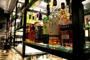 bottles at bar