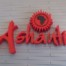 Ashanti logo at reception at backpackers in Cape Town