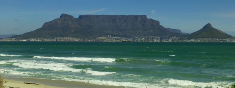 Table Mountain and Ocean