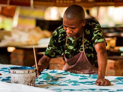Textile visit Swaziland