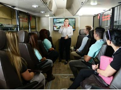 Rotating Seats With Guide Luxury Overland Truck