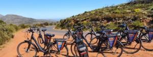 e-bikes on a road