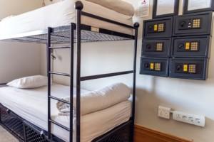 Dorm room with amenities
