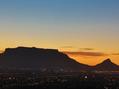 Sunset view of table mountain
